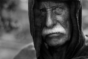 photo of a homeless senior adult