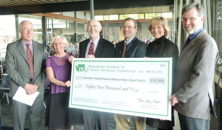 A milestone was reached on March 13th, 2014 as the Rosenblatt Family Endowed Professorship in Rural Health became fully funded.